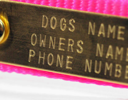 Solid Brass ID Nameplates