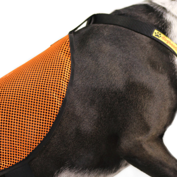 Blaze Orange Mesh Safety Cape